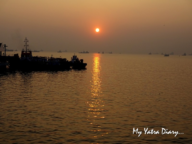 Sunrise from the M2M ferry from Bhaucha Dhakka to Mandwa port