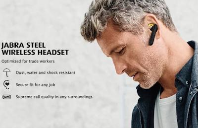 Headset bluetooth tanpa radiasi Jabra Stealth