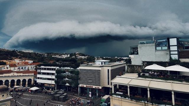 Τι είναι το shelf cloud που κάλυψε την Αθήνα (video)