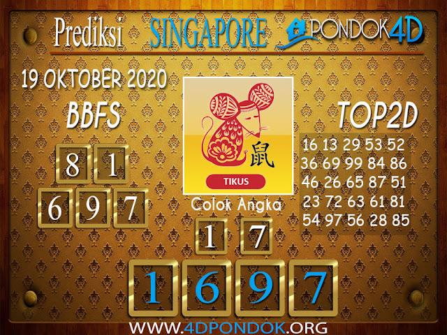 Prediksi Togel SINGAPORE PONDOK4D 19 OKTOBER 2020