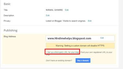 Blogger me domain add kaise kare