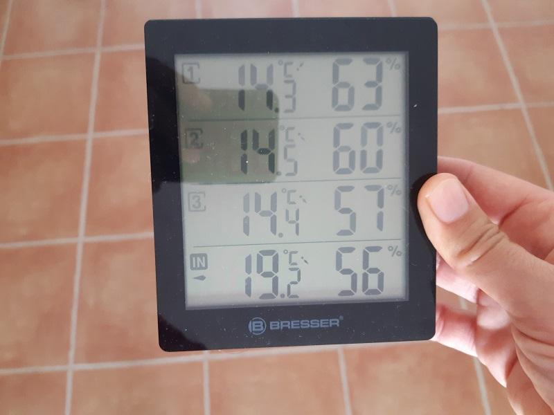 5 gennaio 2021, temperatura in casa alle 12.25