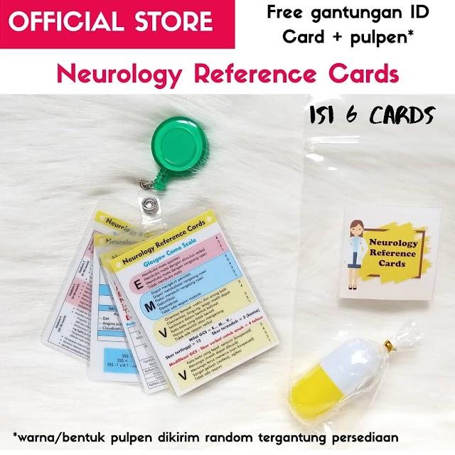 """Medical Mini Cards """"Neurology"""" Khusus buat yang lagi persiapan buat koass, internship, atau dokter umum yang praktik di ugd atau puskesmas"""