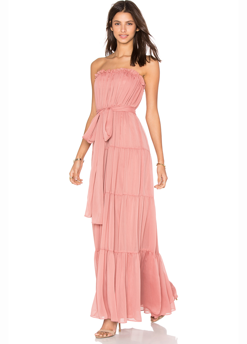 Jill Jill Stuart Strapless Chiffon Gown
