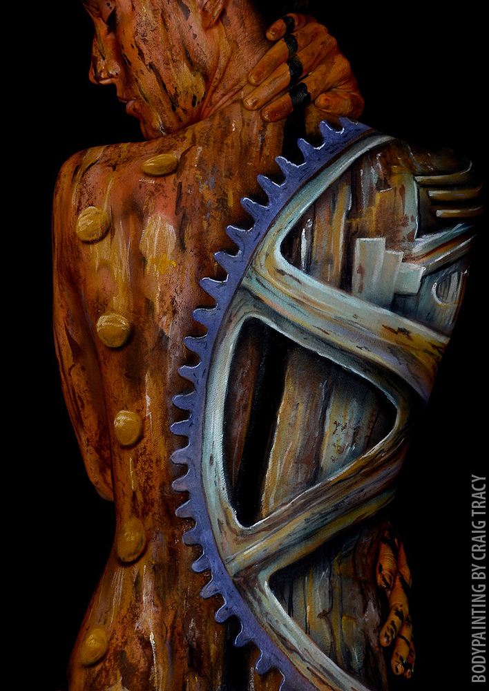Craig Tracy | Optical Illusion Body painter