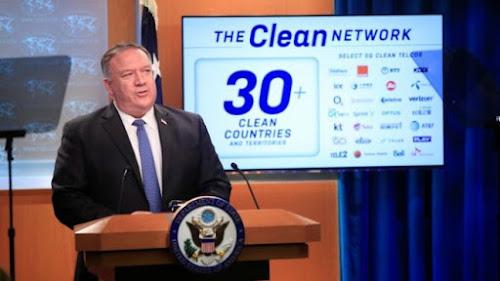 圖:美國國務卿(Mike Pompeo)概述了他希望美國公司對中國不可靠的中國網路應用程式採取的因應措施。