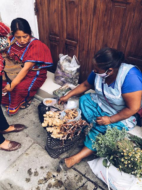 Women in market Oaxaca City Mexico