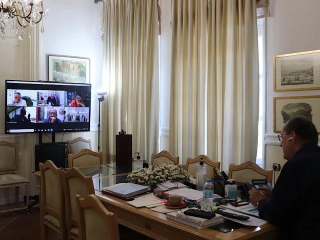 """Τηλεδιάσκεψη Νίκα με τα Επιμελητήρια για την συμμετοχή της Περιφέρειας στην έκθεση """"Πανηπειρωτική 2021"""""""