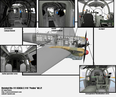 Three-dimensional computer model of the interior of an HE 111  (from Cobra 6 - Deviant Art)