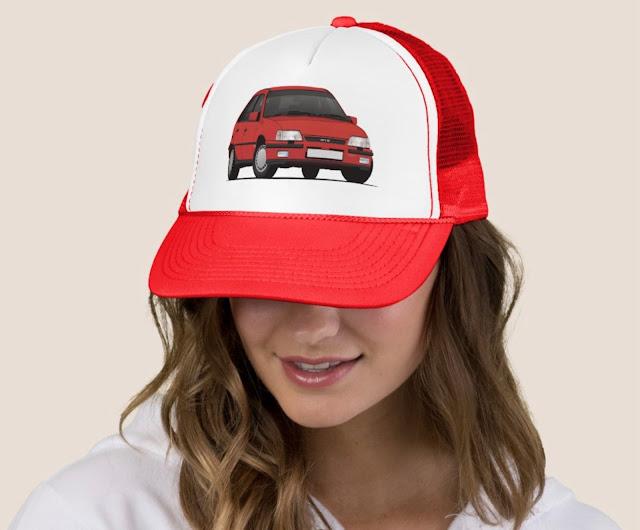Red Vauxhall Astra Mk2 GTE 16V hat - cap