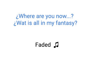 Alan Walker Faded significado de la canción.