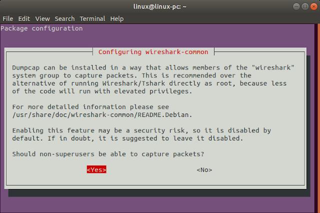 wireshark gns3 ubuntu