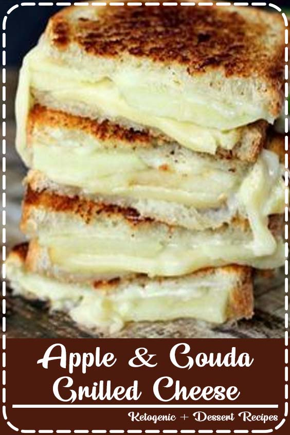 Gouda Grilled Cheese is perfect for fall and those granny smith apples Apple & Gouda Grilled Cheese