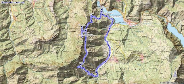 Mapa de la ruta de la Sierra del Crespón