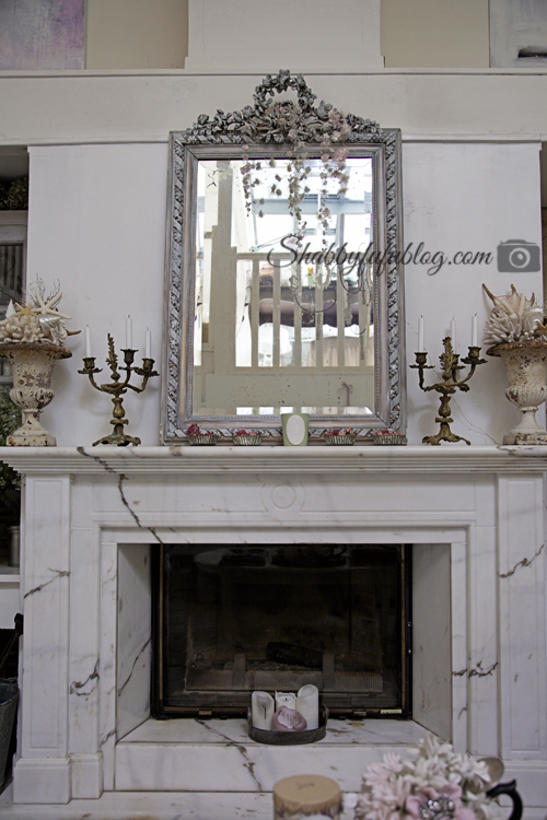 An exquisite french country home tour shabbyfufu for French country stone fireplace
