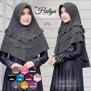 hulya khimar 3 layer by quail hijab