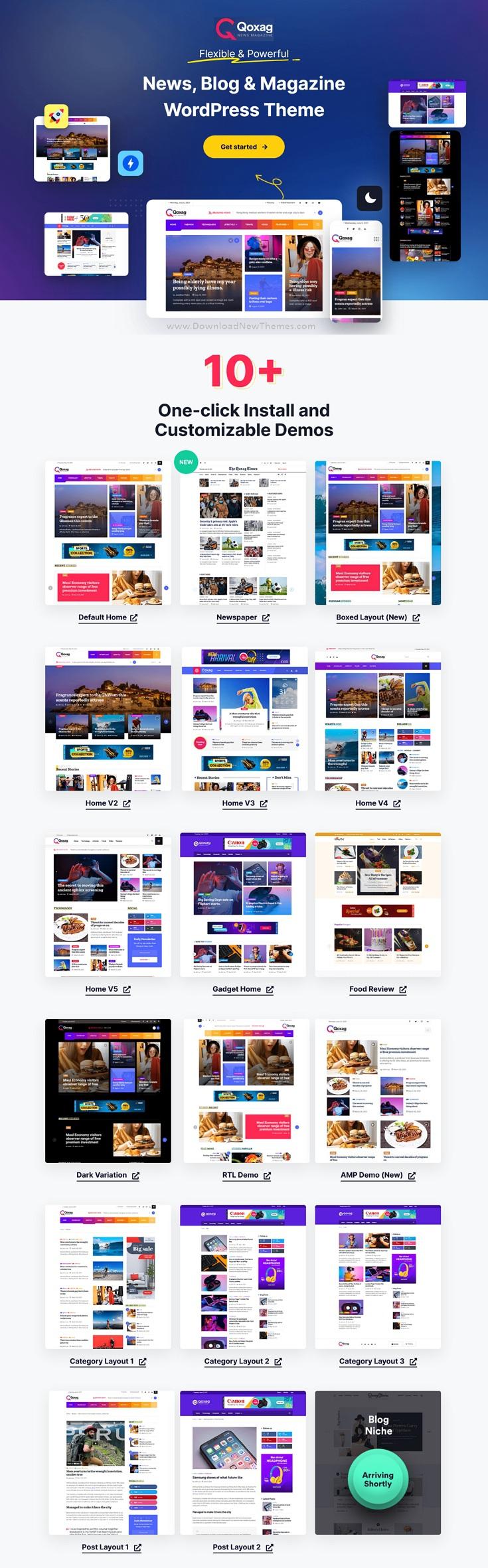 Responsive WordPress News Magazine Theme