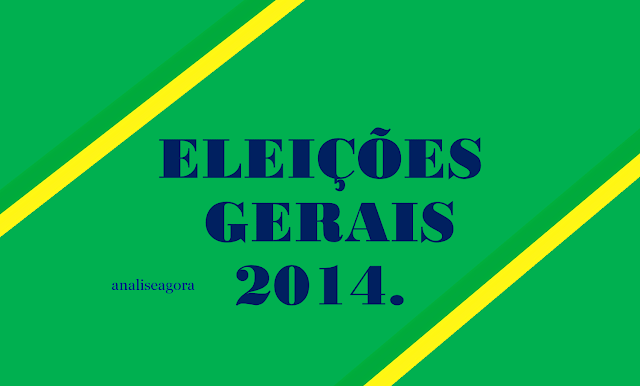 A imagem nas cores do Brasil diz;eleições 2014.