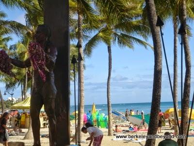 Duke Kahanamoku Statue on Waikiki Beach in Hawaii