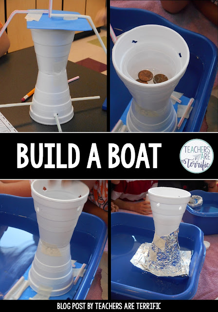 STEM Challenge- It's a bestselling STEM Challenge. Building Boats is our favorite!