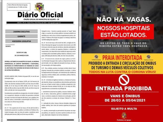IGUAPE ADOTA NOVAS MEDIDAS NA FASE EMERGENCIAL DA PANDEMIA