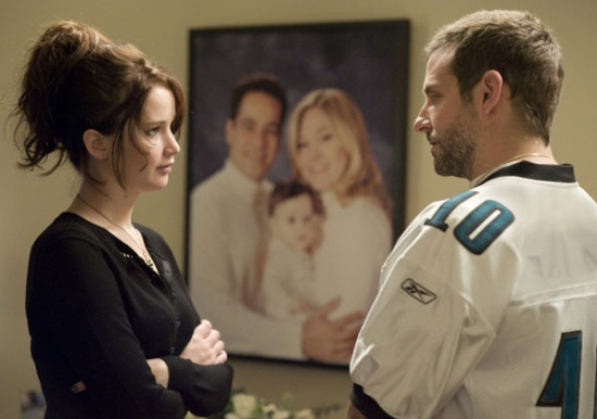 Silver Linings Playbook, Bradley Cooper, Jennifer Lawrence, Leonardo DiCaprio, Robert De Niro, Jacki Weaver y Chris Tucker