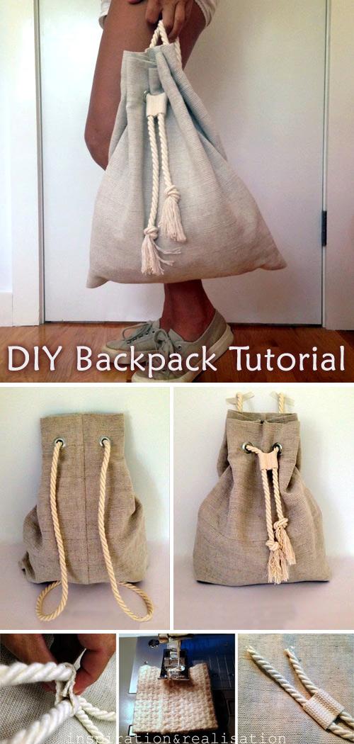 DIY: Slouchy Backpack Tutorial
