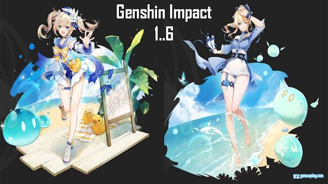 Leaks Update Genshin Impact Version 1.6, Skin Skin Cost Jean and Barbara