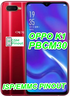 Oppo K1 PBCM30 ISP (EMMC) Pinout For EMMC Programming Flashing And Remove FRP Lock