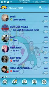 BBM Doraemon Transparant V3.0.1.25 Apk Terbaru