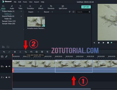 Efek Kamera Bergeser Pada Video Dengan Filmora 9