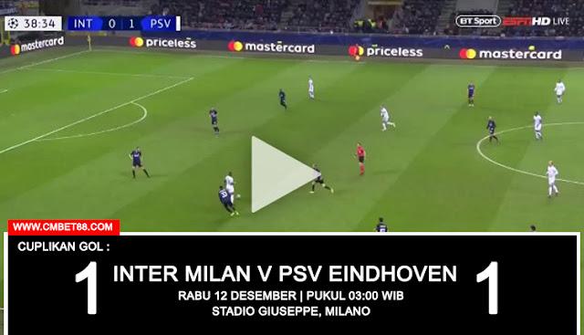 Cuplikan Gol : Inter Milan 1-1 PSV Eindhoven [Europa - Champions League]
