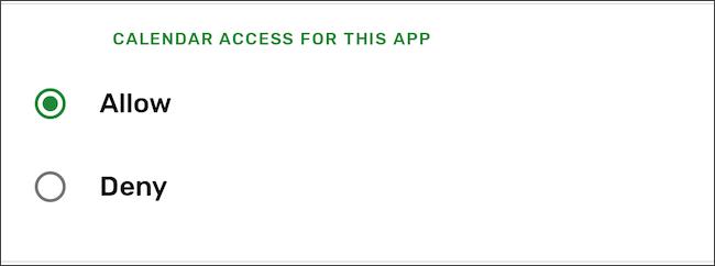 رفض إذن التطبيق على Android
