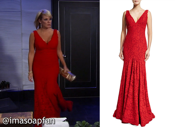 Ava Jerome's Red Lace Gown at the Nurses Ball - General Hospital