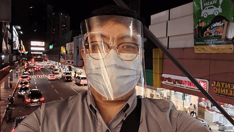 Selfie camera night mode