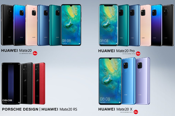 HUAWEI unveils Mate 20, Mate 20 Pro, Mate 20 X and PORSCHE DESIGN Mate 20 RS smartphones