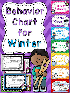 Winter behavior chart - click to read how she changes them out monthly to keep classroom management exciting!