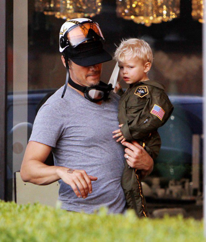Fergie and Josh Duhamel for the anniversary of Axl