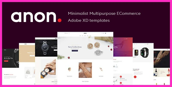 Minimalist Multipurpose eCommerce XD templates