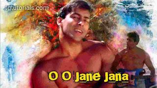 This is an image of Salman khan for O o jaane Jaana Guitar Chords