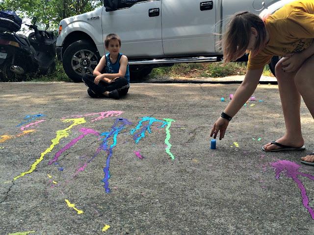 Sidewalk Chalk Rockets