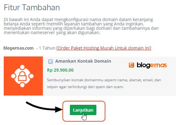 Langkah Detail Cara Beli Domain Berbayar Full Gambar