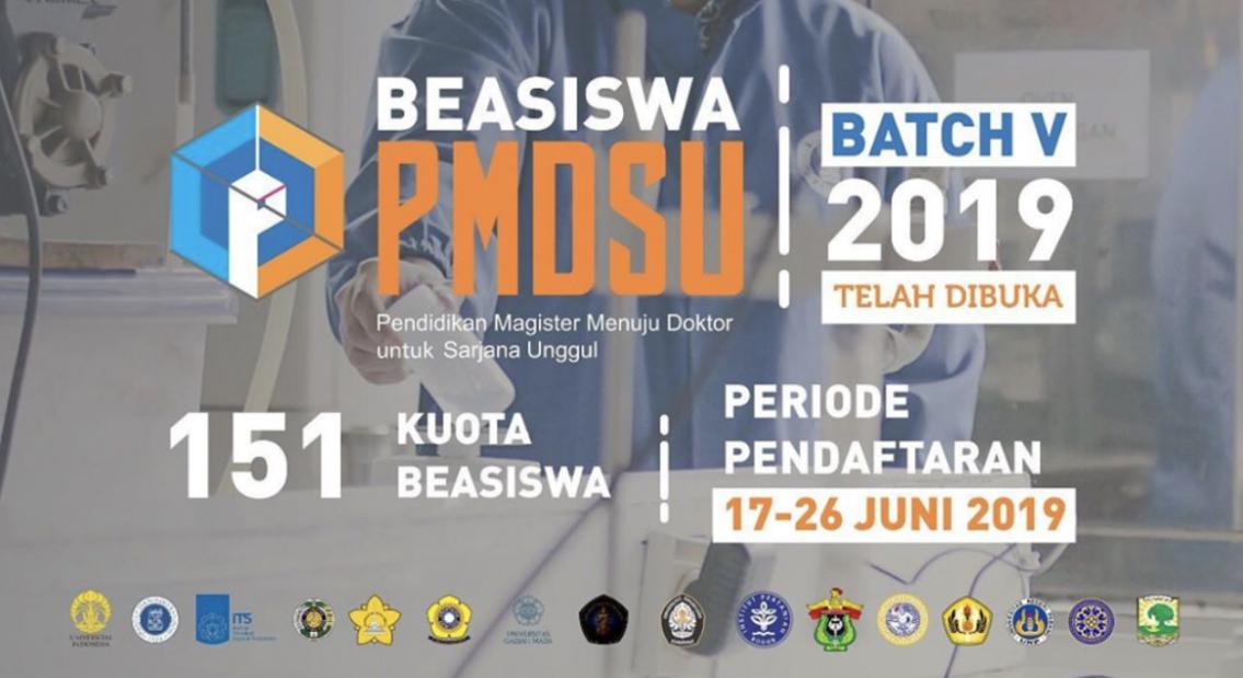 Panduan Beasiswa Pendidikan Magister Menuju Doktor Sarjana Unggul (PMDSU) Tahun 2019