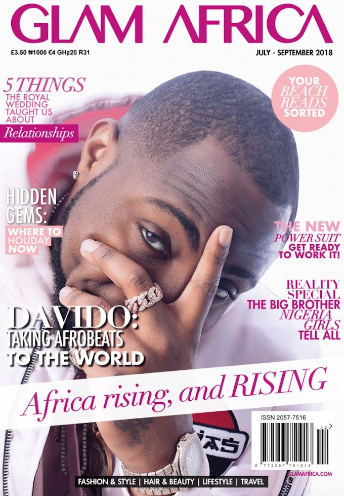 """Davido covers Glam Africa Magazine's """"Africa Rising"""" July – September Issue"""