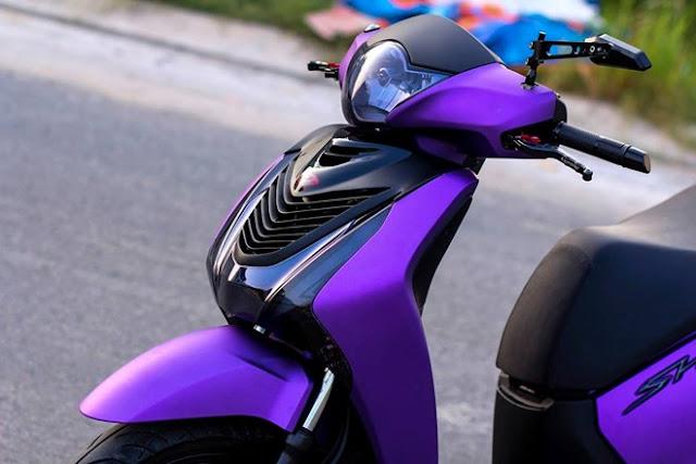 Sơn xe Honda Sh màu tím nhám