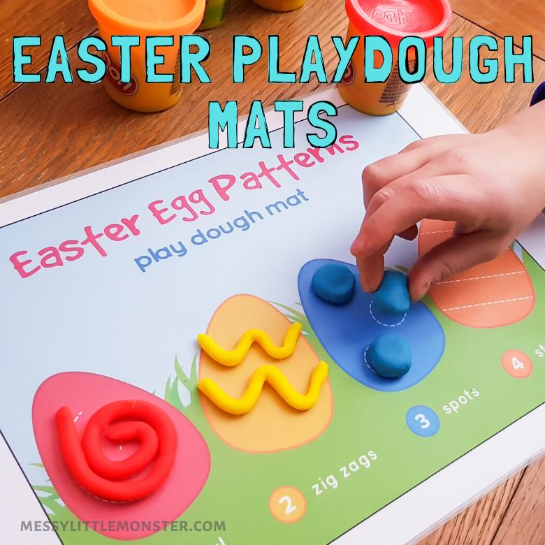 Easter playdough mat