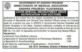 Directorate of Medical Education Andhra Pradesh Recruitment for 1184 Medical Officer, Specialists Apply Online @ dme.ap.nic.in /2020/04/Directorate-of-Medical-Education-AP-Recruitment-for-1184-Medical-Officer-Specialists-Apply-Online-dme.ap.nic.in.html