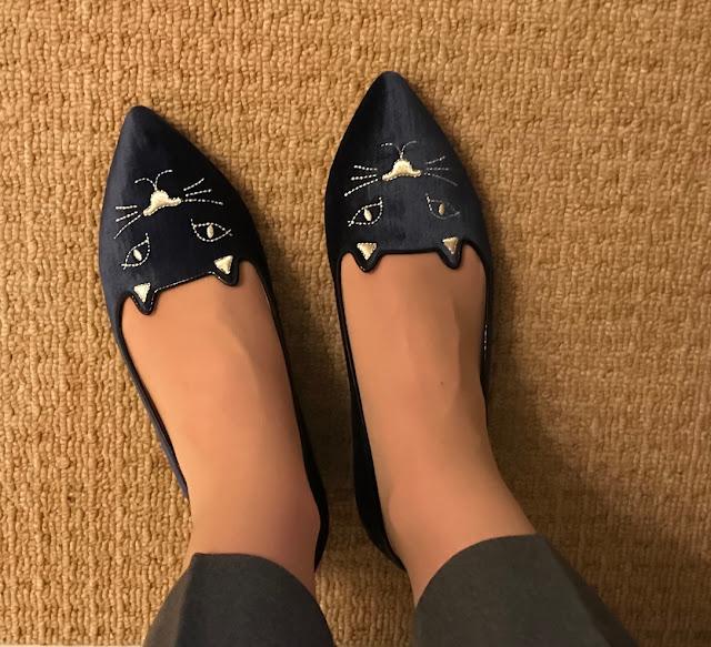 My Midlife Fashion, Charlotte olympia mid century kitty slippers