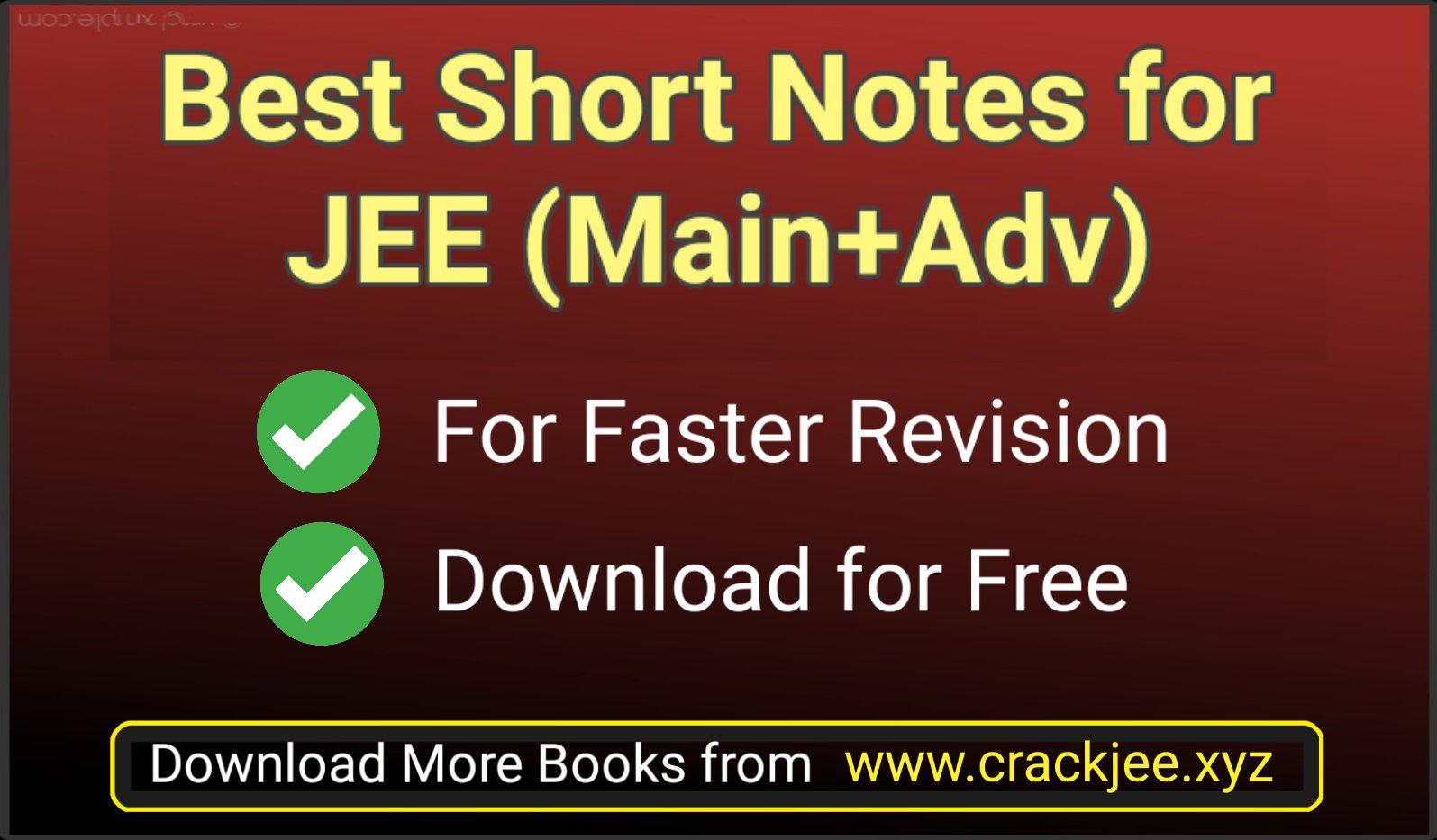 Best Handwritten Short Notes for IIT JEE