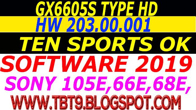 GX6605S TYPE HD HW 203.00.001 NEW SOFTWARE TEN SPORTS OK